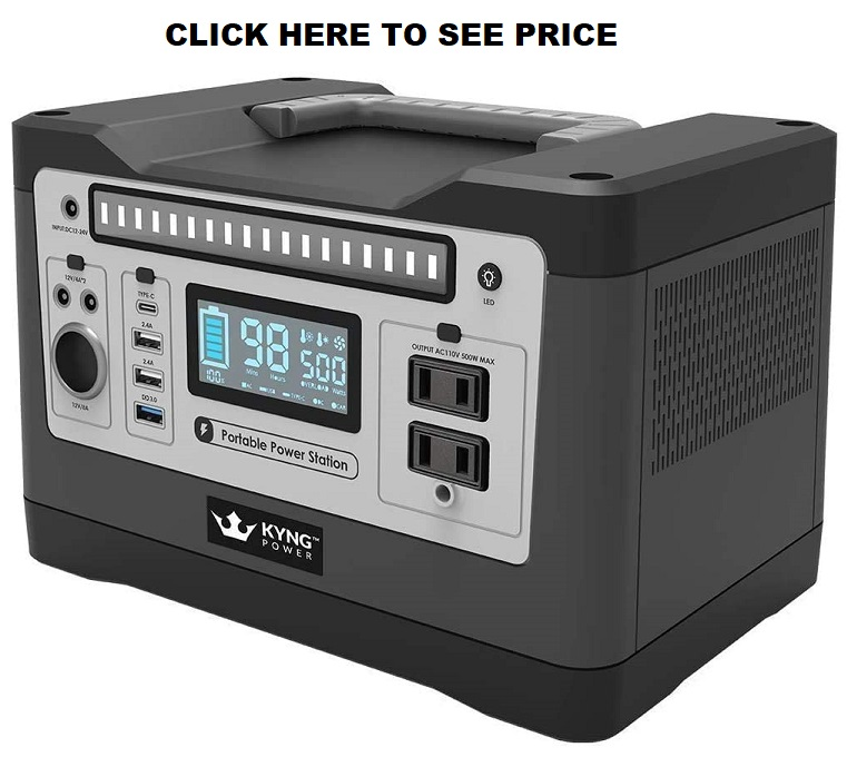 Kyng Power Solar Generator 540wh  Portable Power Station